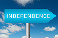 Street Sign pointing to Independence