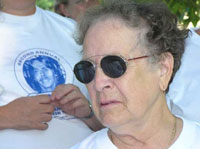 photo of Peggy Lewis at Walk 2005
